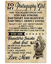 TO MY PHOTOGRAPHY GIRL 16x24 Poster front