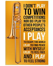 TROMBONE - I DON'T PLAY TO WIN COMPETITIONS 11x17 Poster front