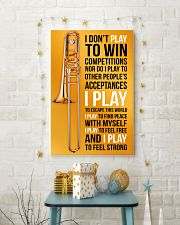 TROMBONE - I DON'T PLAY TO WIN COMPETITIONS 11x17 Poster lifestyle-holiday-poster-3