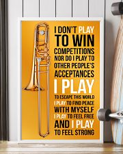 TROMBONE - I DON'T PLAY TO WIN COMPETITIONS 11x17 Poster lifestyle-poster-4