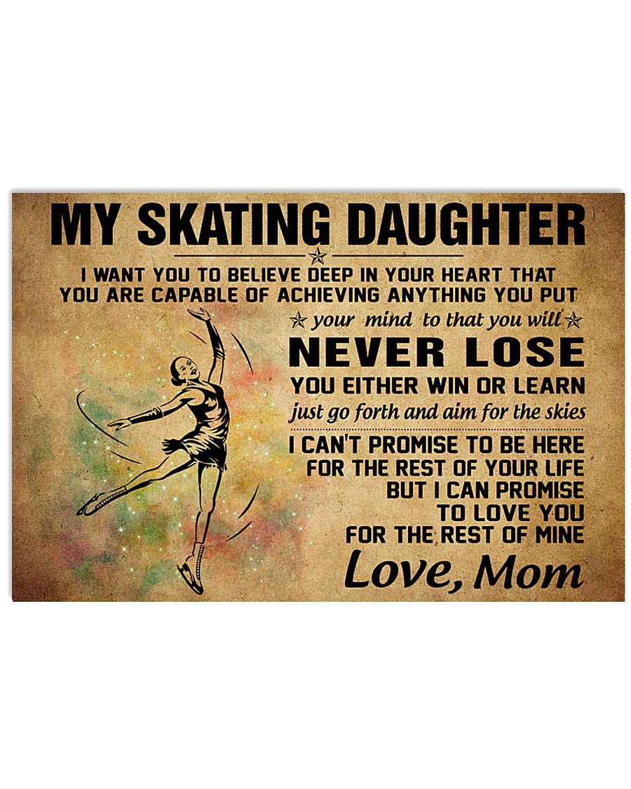 never lose my skating 17x11 Poster