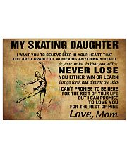 never lose my skating 17x11 Poster front