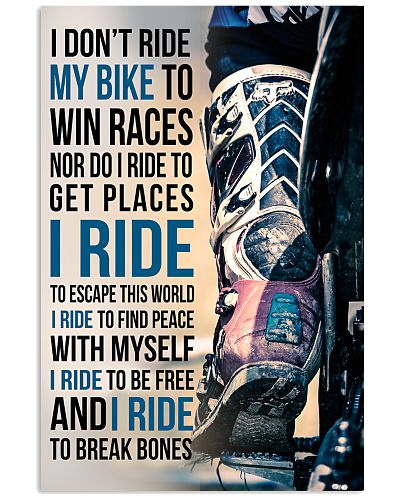 4- I DON'T RIDE MY BIKE TO WIN RACES - KD