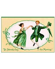 St patricks day in the morning poster 17x11 Poster front
