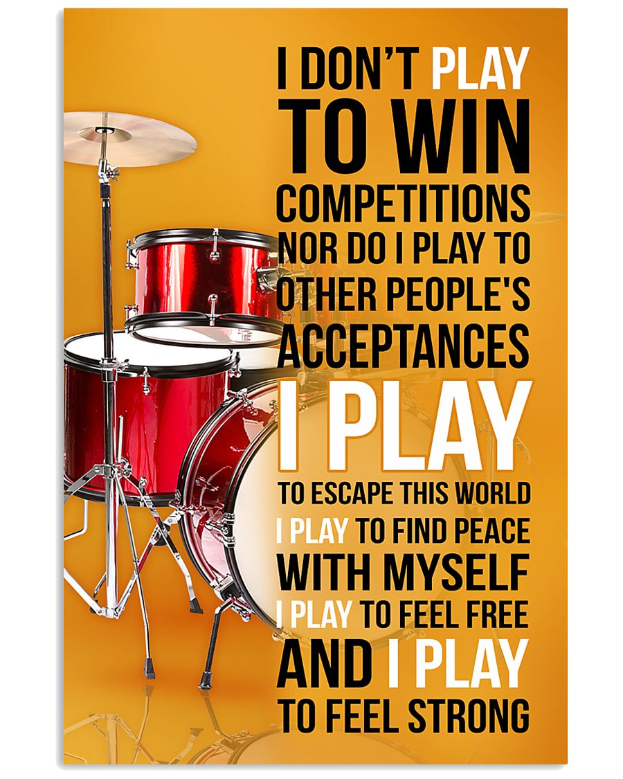 DRUMP - I DON'T PLAY TO WIN COMPETITIONS 11x17 Poster