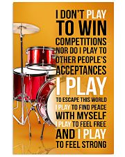 DRUMP - I DON'T PLAY TO WIN COMPETITIONS 11x17 Poster front