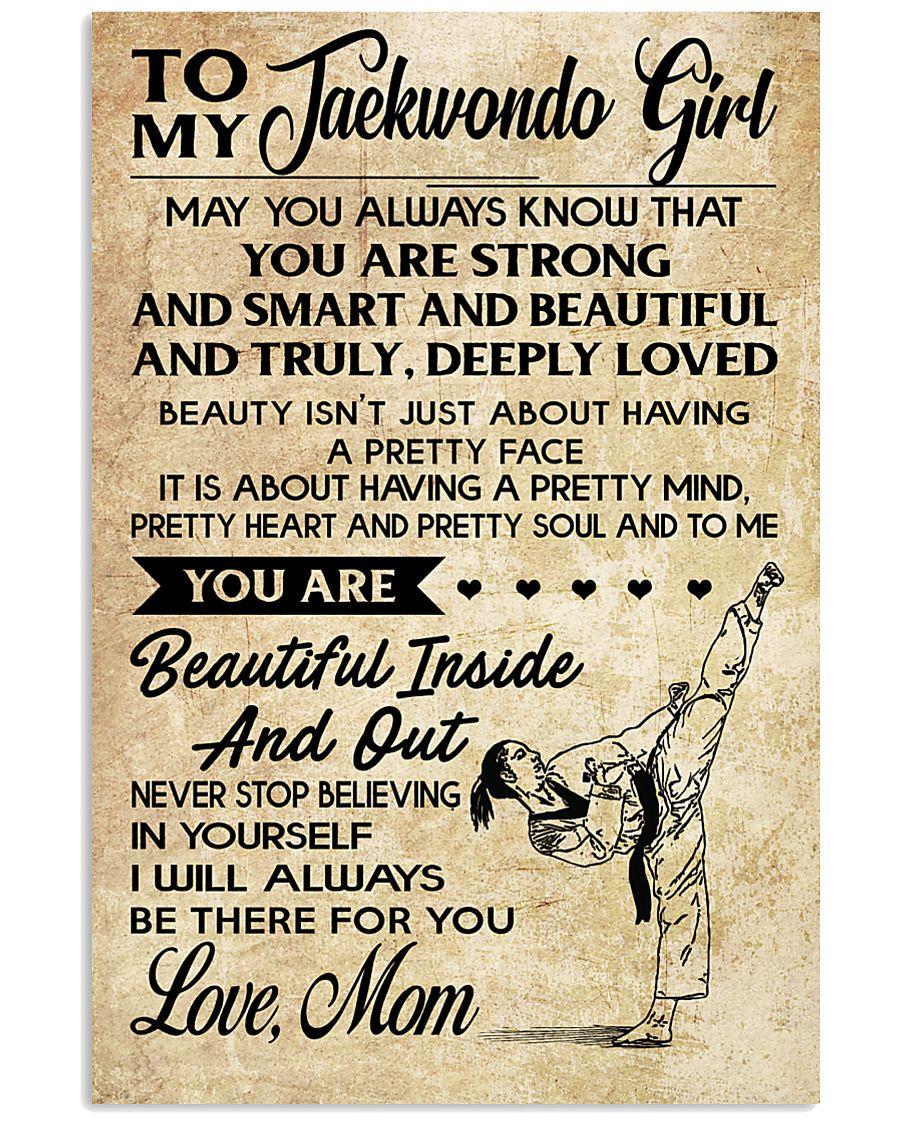 TO MY Taekwondo Girl 11x17 Poster