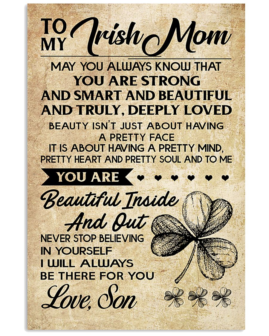 TO MY Irish MOM SON 16x24 Poster
