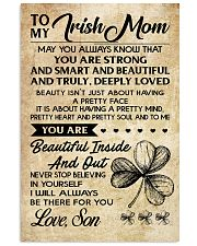 TO MY Irish MOM SON 16x24 Poster front