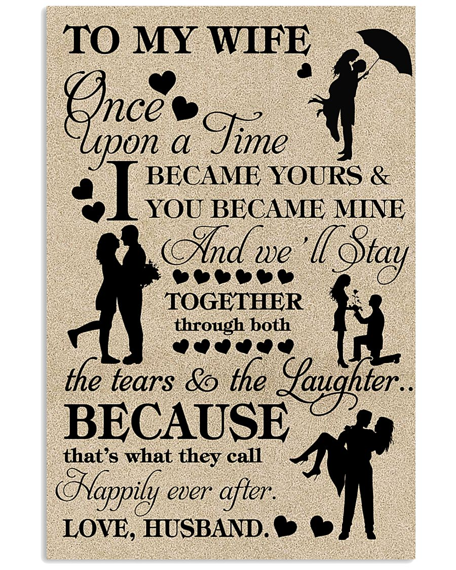 TO MY WIFE- ONE UPON A TIME POSTER 16x24 Poster