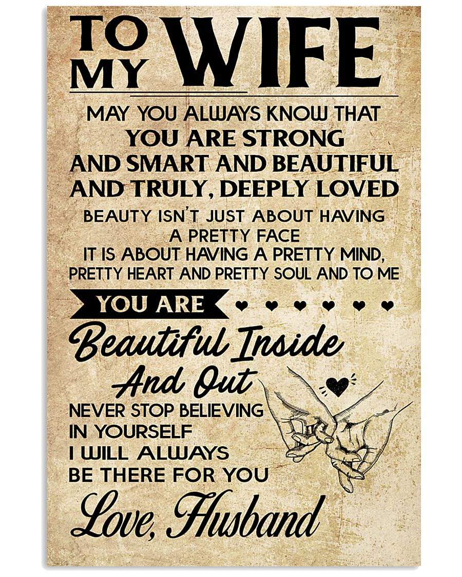 TO MY WIFE- HUSBAND 16x24 Poster