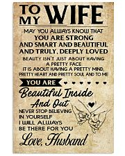 TO MY WIFE- HUSBAND 16x24 Poster front