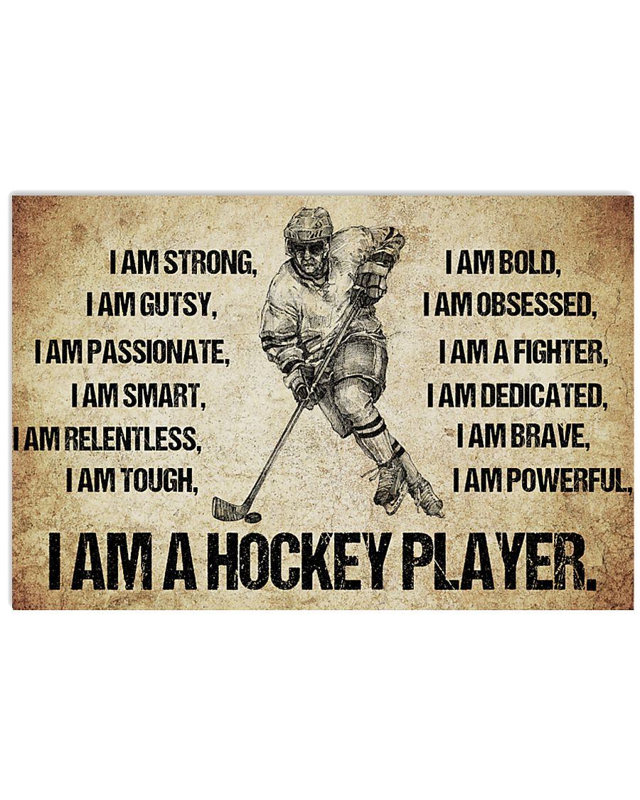 4I AM A hockey player POSTER 17x11 Poster