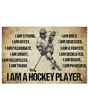 4I AM A hockey player POSTER 17x11 Poster front