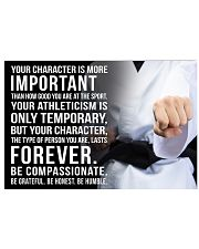YOU CHARACTER IS MORE IMPORTANT KARATE POSTER  17x11 Poster front