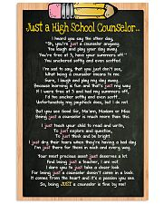 3 JUST A high school counselor kd POSTER 11x17 Poster front
