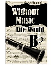 WITHOUT MUSIC LIFE WOULD - CLARINET POSTER 11x17 Poster front