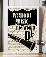 WITHOUT MUSIC LIFE WOULD - CLARINET POSTER 11x17 Poster lifestyle-poster-4