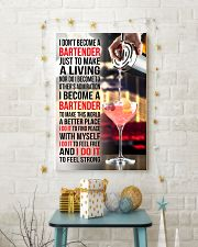 I DON'T BECOME A BARTENDER JUST TO MAKE A LIVING 11x17 Poster lifestyle-holiday-poster-3