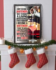 I DON'T BECOME A BARTENDER JUST TO MAKE A LIVING 11x17 Poster lifestyle-holiday-poster-4
