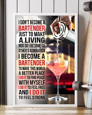 I DON'T BECOME A BARTENDER JUST TO MAKE A LIVING 11x17 Poster lifestyle-poster-4