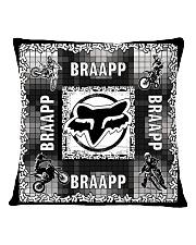 motocross braapp pillowcase Square Pillowcase back
