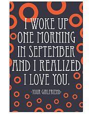 September- I WOKE UP ONE MORNING 16x24 Poster front