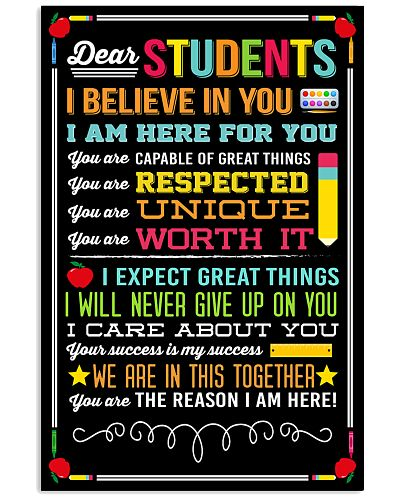 DEAR STUDENTS I BELIEVE IN YOU POSTER 01