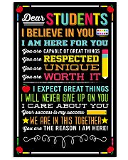 DEAR STUDENTS I BELIEVE IN YOU POSTER 01 11x17 Poster front