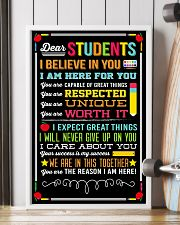 DEAR STUDENTS I BELIEVE IN YOU POSTER 01 11x17 Poster lifestyle-poster-4