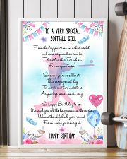 SOFTBALL GIRL - TO A VERY SPECIAL 11x17 Poster lifestyle-poster-4