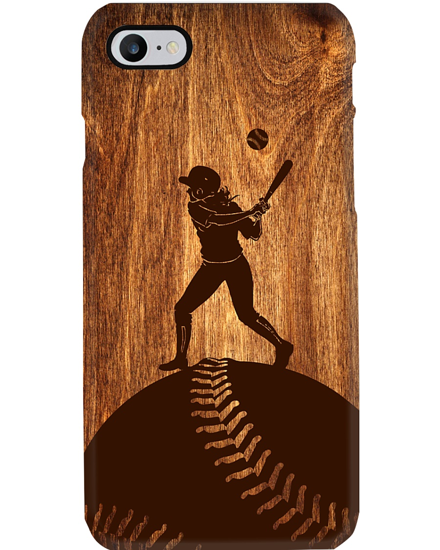 Softball - Natural Texture Wood Phone Case - TL Phone Case