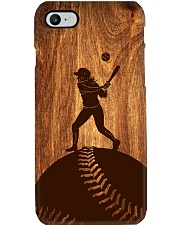 Softball - Natural Texture Wood Phone Case - TL Phone Case i-phone-8-case
