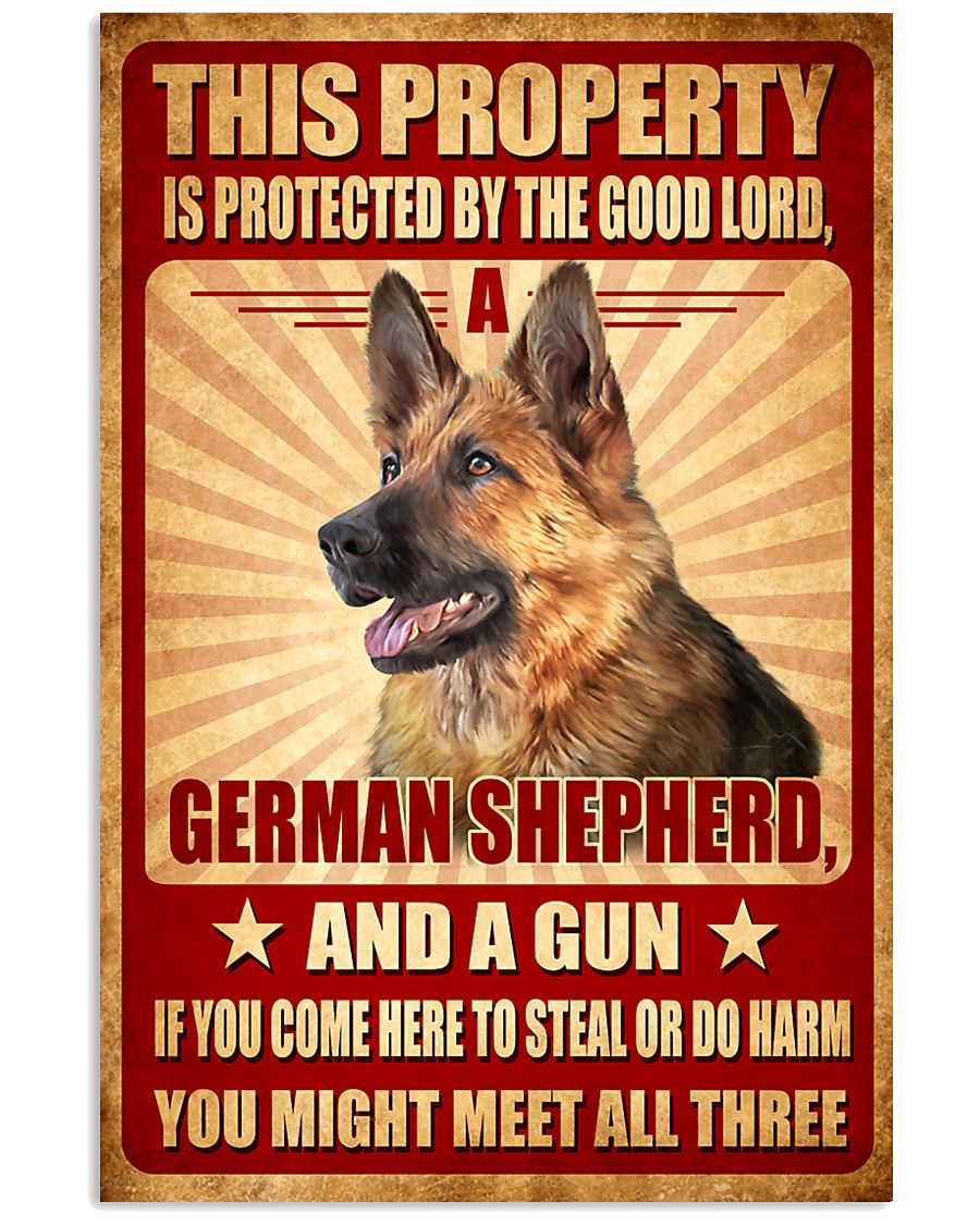 German Shepherd - This Property Poster SKY 11x17 Poster