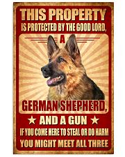 German Shepherd - This Property Poster SKY 11x17 Poster front