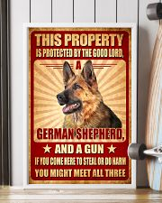 German Shepherd - This Property Poster SKY 11x17 Poster lifestyle-poster-4