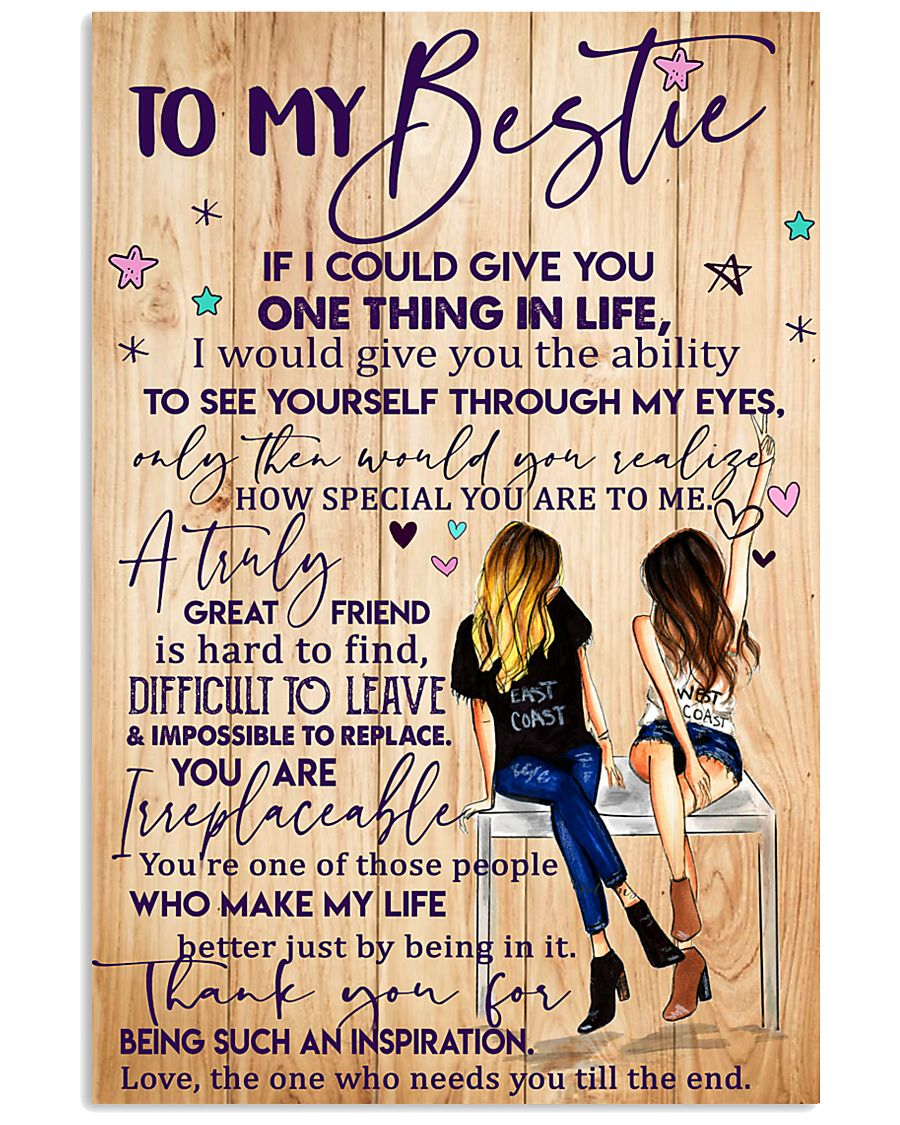 To My Bestie Poster 11x17 Poster