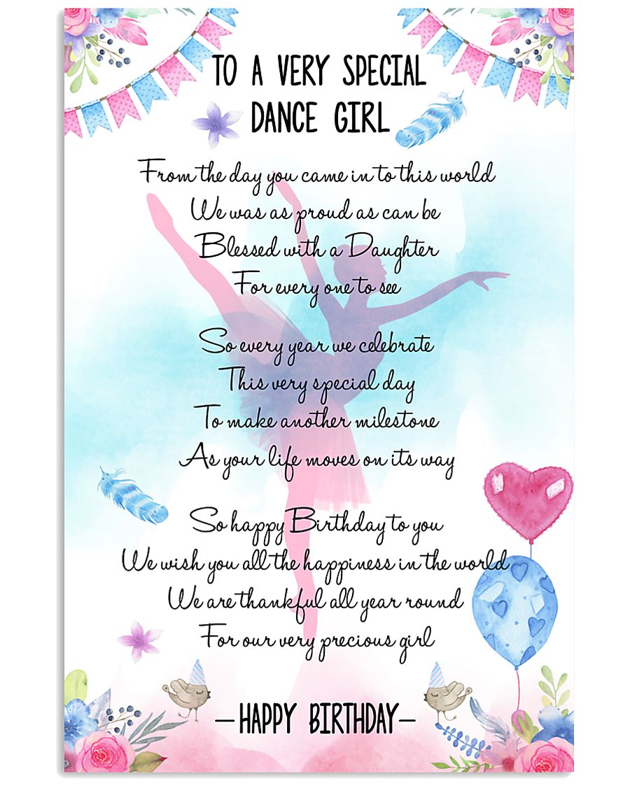DANCE GIRL - TO A VERY SPECIAL 11x17 Poster