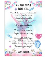 DANCE GIRL - TO A VERY SPECIAL 11x17 Poster front