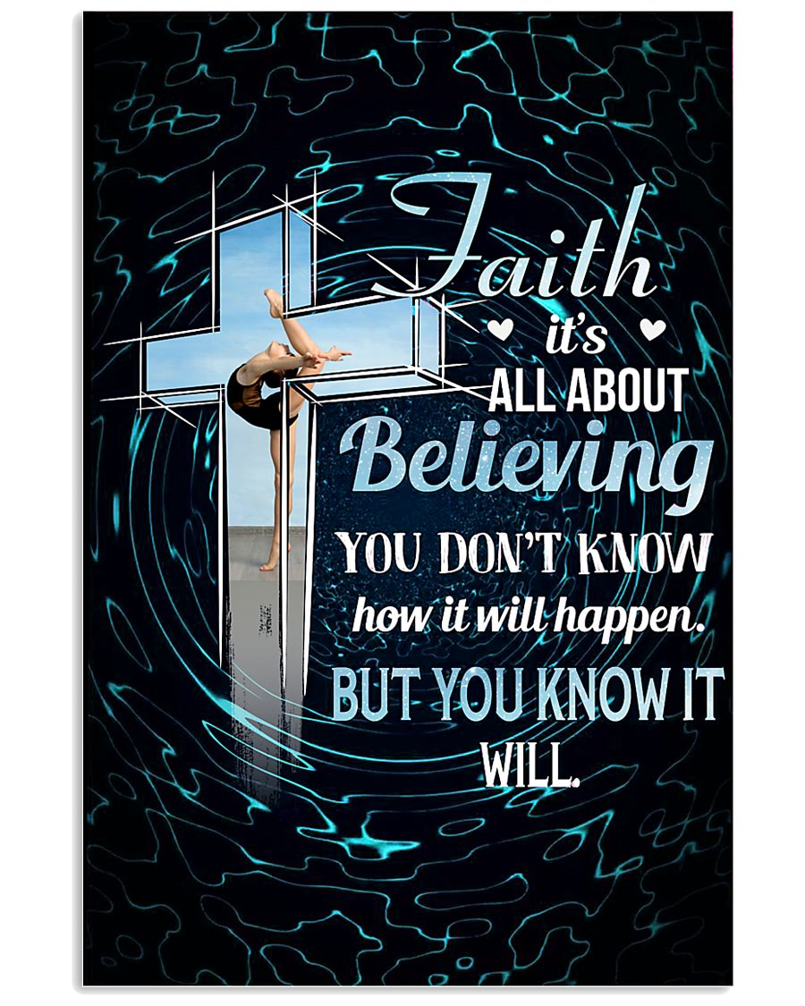 GYMNASTICS - FAITH IT'S ALL ABOUT BELIEVING 11x17 Poster