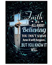 GYMNASTICS - FAITH IT'S ALL ABOUT BELIEVING 11x17 Poster front