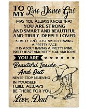 TO MY LINE DANCE GIRL - DAD 16x24 Poster front