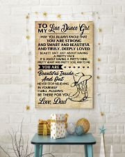 TO MY LINE DANCE GIRL - DAD 16x24 Poster lifestyle-holiday-poster-3