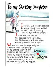 TO MY SKATING DAUGHTER - I SOMETIMES WISH 11x17 Poster front