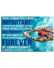 YOU CHARACTER IS MORE IMPORTANT SWIMMING POSTER  36x24 Poster front