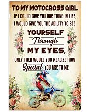 TO MY MOTOCROSS GIRL - YOU ARE TO ME 11x17 Poster front