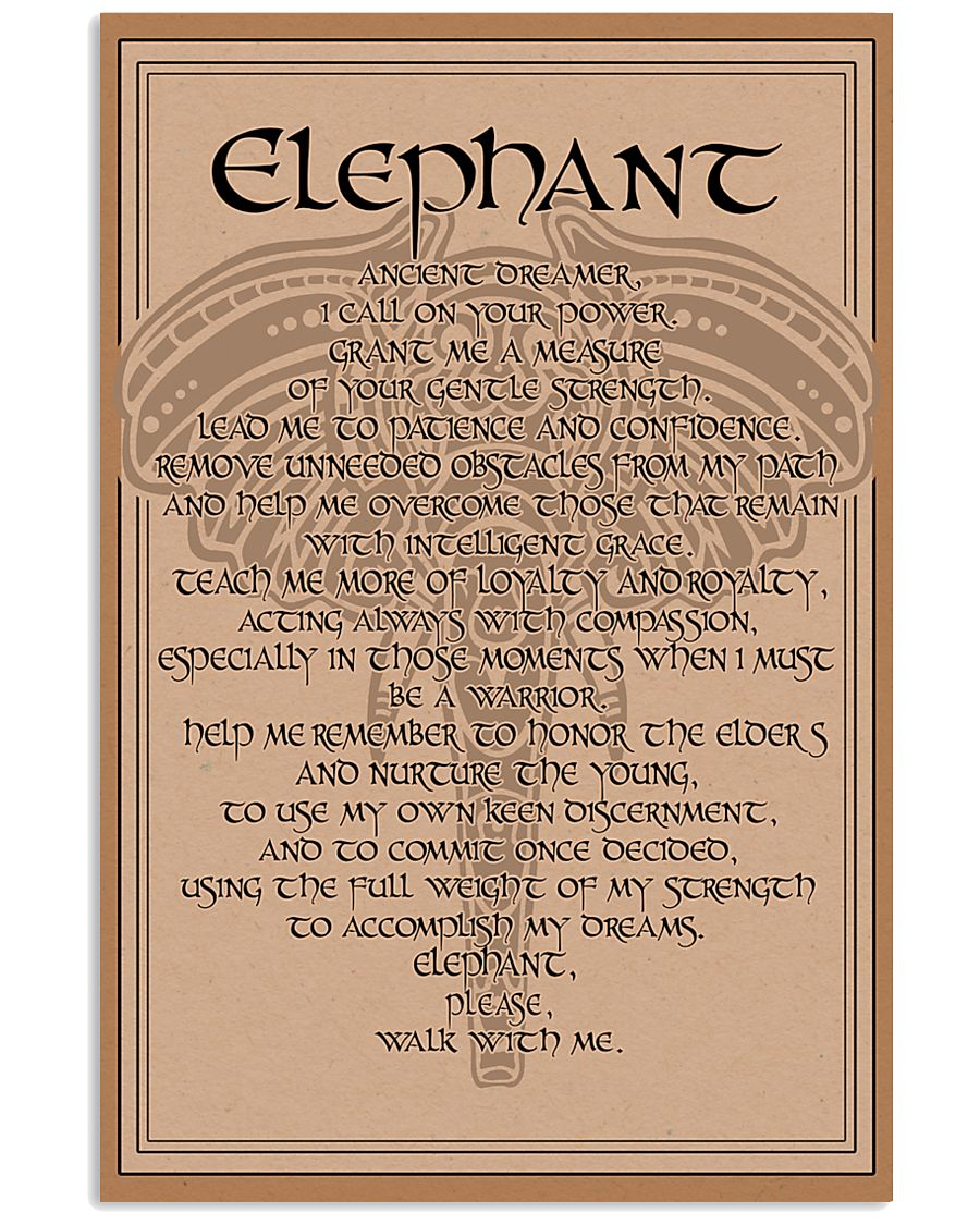 ELEPHANT- ANCIENT DREAMER POSTER 11x17 Poster