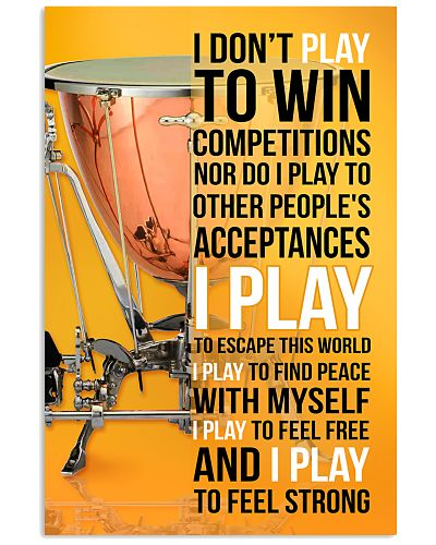 TIMPANI - I DON'T PLAY TO WIN COMPETITIONS