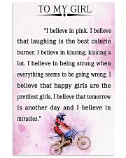 MOTOCROSS- I BELIEVE IN PINK 16x24 Poster front