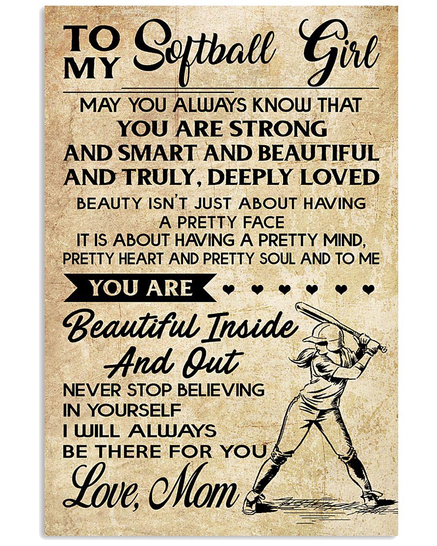 TO MY Softball Boy Mom 11x17 Poster